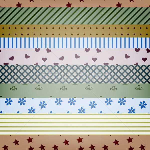 vector seamless textile stripes pattern Stock photo © alexmakarova