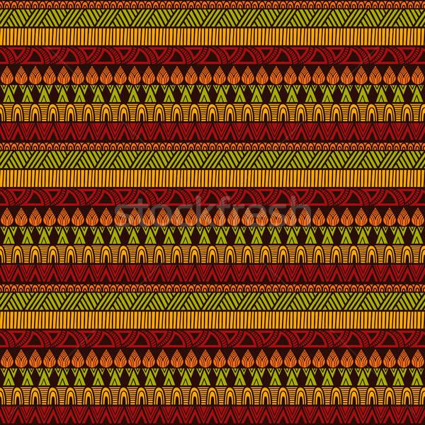 Vettore senza soluzione di continuità etnica pattern menu Foto d'archivio © alexmakarova