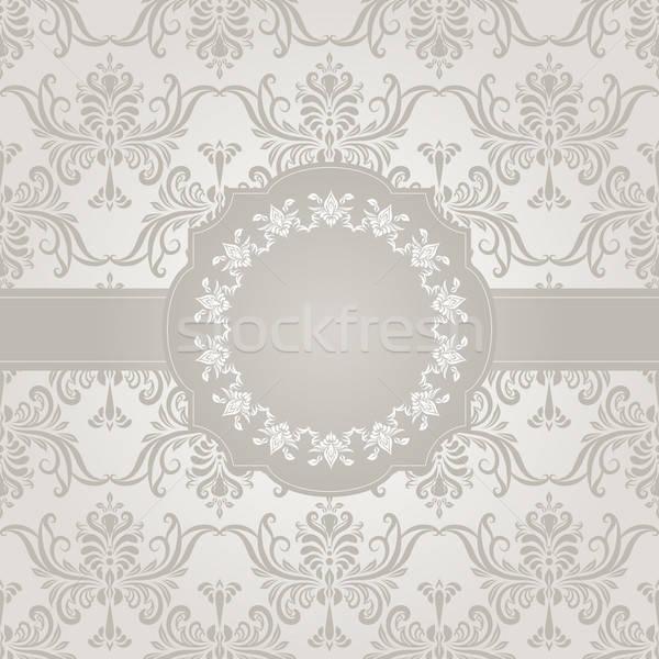Vektor végtelenített régi tapéta minta keret gradiens Stock fotó © alexmakarova