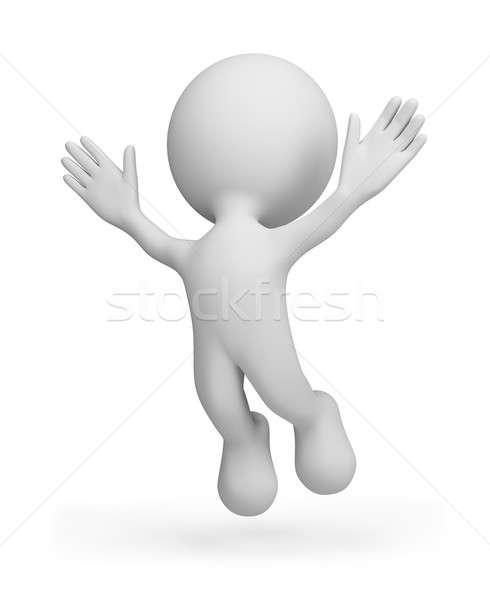 Exitoso 3 ª persona 3D imagen aislado Foto stock © AlexMas
