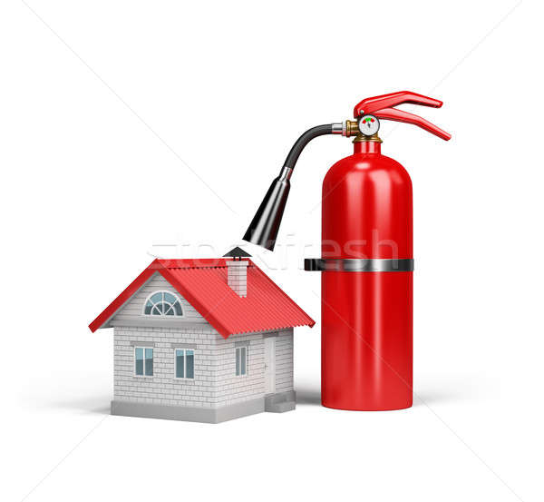 Property insurance against fire Stock photo © AlexMas