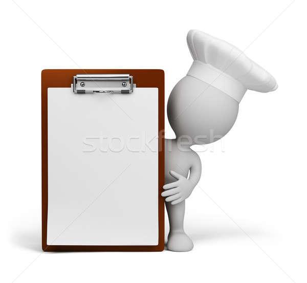 Restaurante menu chef presentes 3D imagem Foto stock © AlexMas
