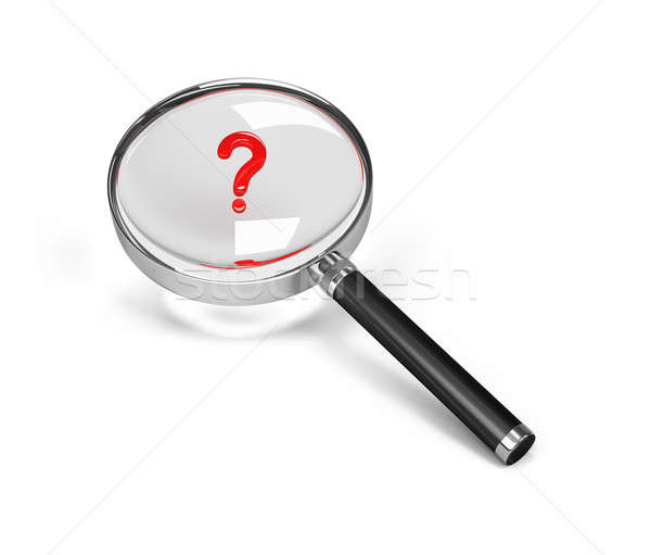 Magnifier and question mark Stock photo © AlexMas