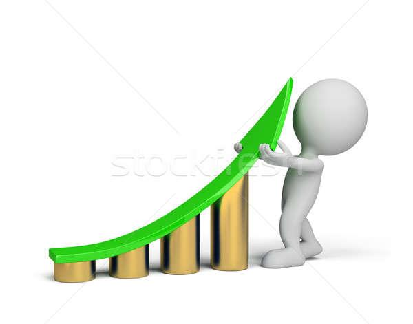 3d person - statistics improvement  Stock photo © AlexMas