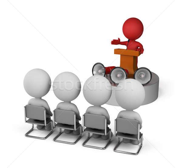Discorso leader conferenza podio 3D Foto d'archivio © AlexMas