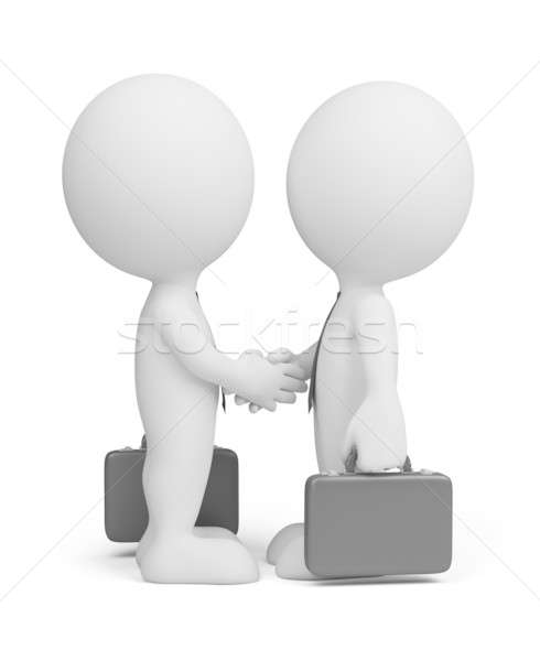3d business people greet Stock photo © AlexMas