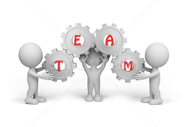 Stock photo: 3d person – team