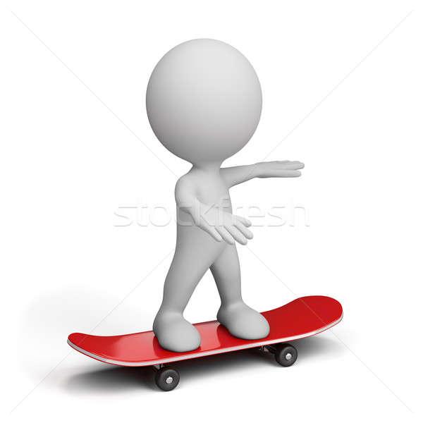 3d person on skateboard Stock photo © AlexMas