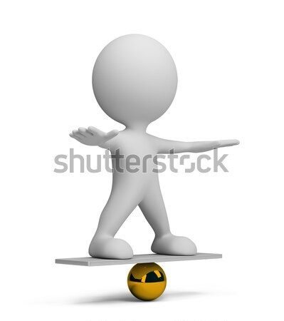 3d person in equilibrium Stock photo © AlexMas