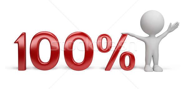 3d person - percent Stock photo © AlexMas
