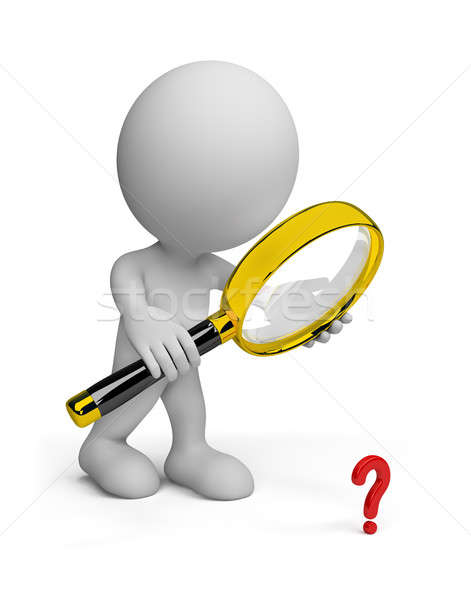3d person with a magnifying glass  Stock photo © AlexMas