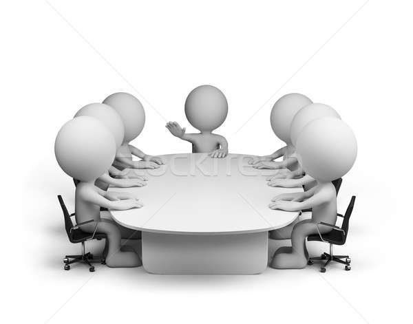 Toplantı konferans salonu 3D görüntü beyaz Stok fotoğraf © AlexMas