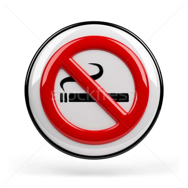Dohányozni tilos felirat piros dohányzás tilalom 3D Stock fotó © AlexMas