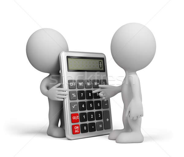 A man with a calculator Stock photo © AlexMas
