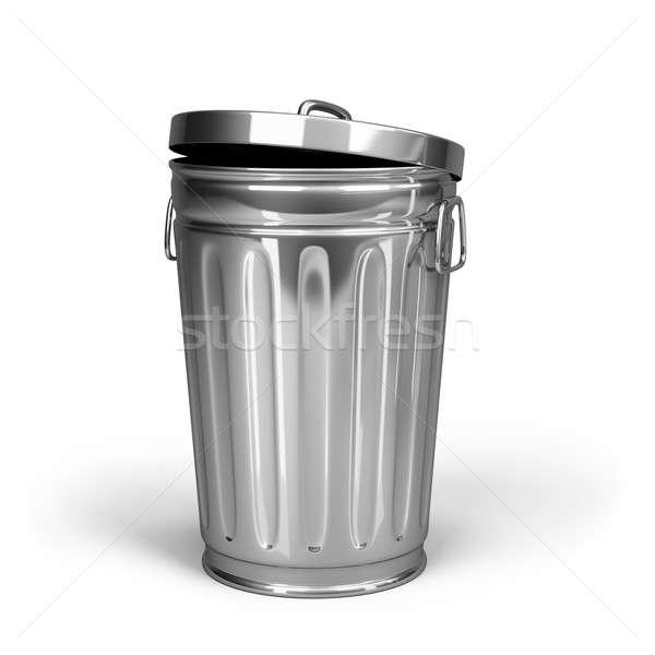 Tanque desperdiçar aço cesto de lixo 3D imagem Foto stock © AlexMas