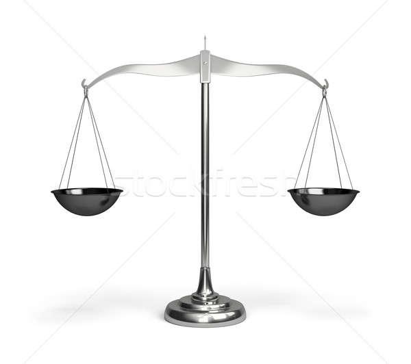 Весы 3D изображение белый бизнеса Сток-фото © AlexMas