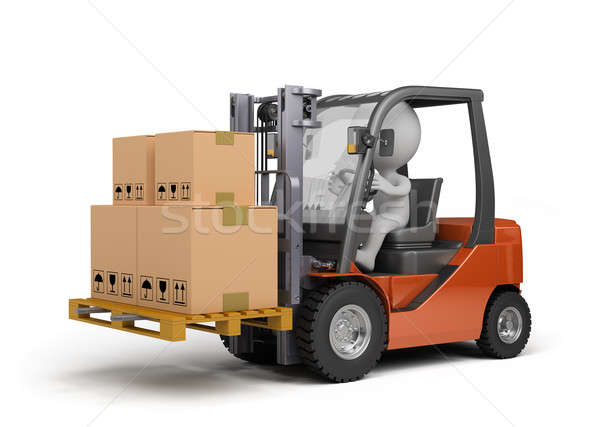 Forklift truck with boxes Stock photo © AlexMas