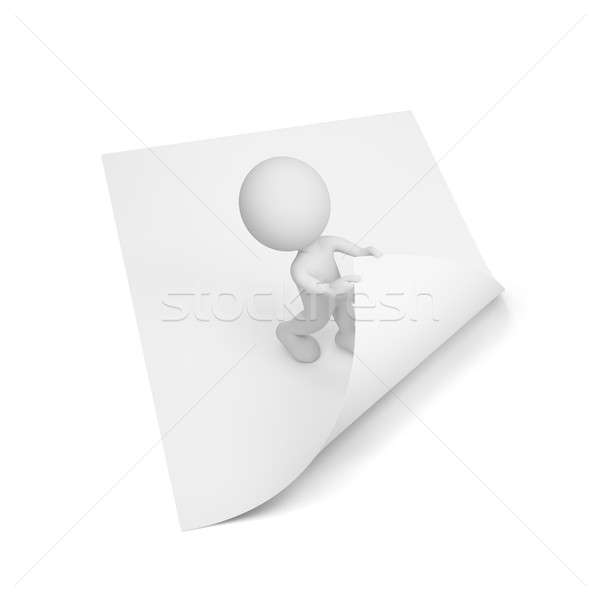 3d person turns the page  Stock photo © AlexMas