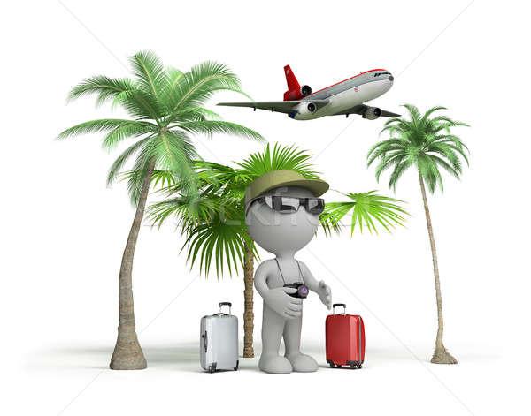 Man on vacation Stock photo © AlexMas