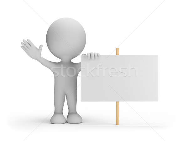 3d person with a billboard Stock photo © AlexMas
