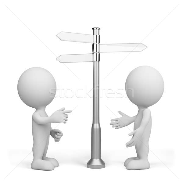 3d person - choice of direction Stock photo © AlexMas