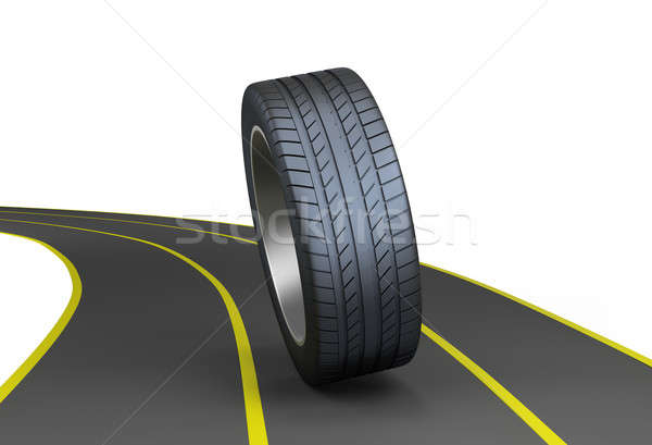 Tires on the highway Stock photo © AlexMas