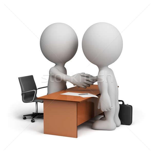 Due imprenditori cooperazione accordo 3D Foto d'archivio © AlexMas