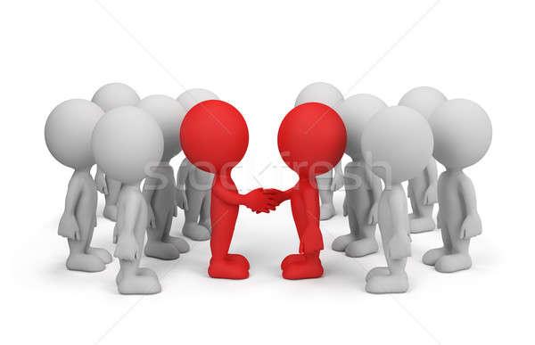 Accordo cooperazione due 3D immagine Foto d'archivio © AlexMas