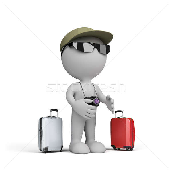 3d man going on vacation Stock photo © AlexMas