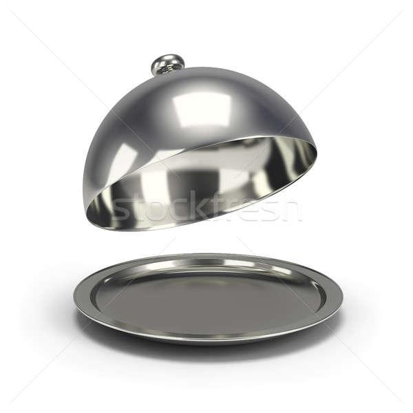 Gümüş 3D görüntü beyaz çalışmak Stok fotoğraf © AlexMas
