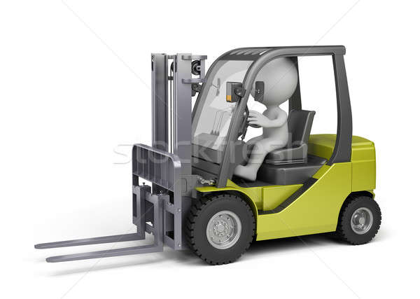 Man on the forklift truck Stock photo © AlexMas