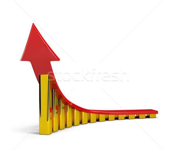 Stockfoto: Succes · Rood · pijl · gouden · naar · top