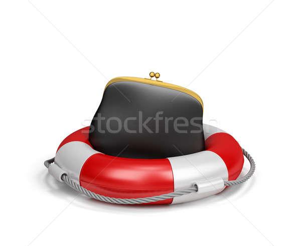 Purse on lifebuoy Stock photo © AlexMas