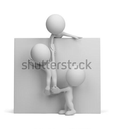 3 ª persona ayudar amigo 3D imagen aislado Foto stock © AlexMas