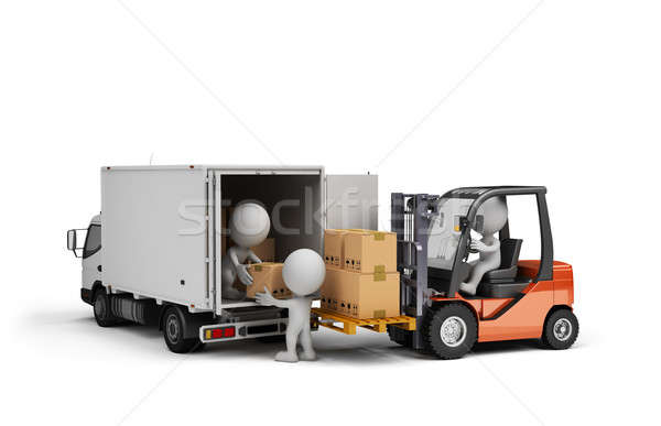 Loading cargo in the car Stock photo © AlexMas
