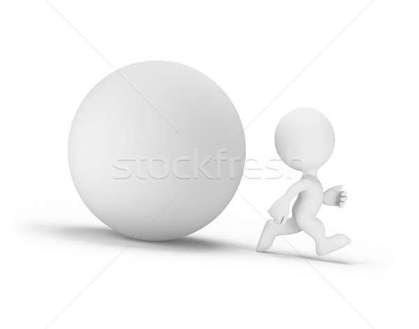 3d person runs away from the orb Stock photo © AlexMas