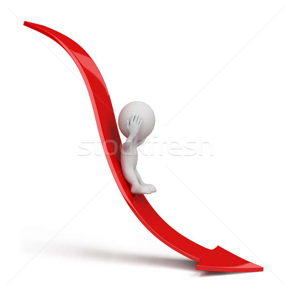 3d person rolling down Stock photo © AlexMas