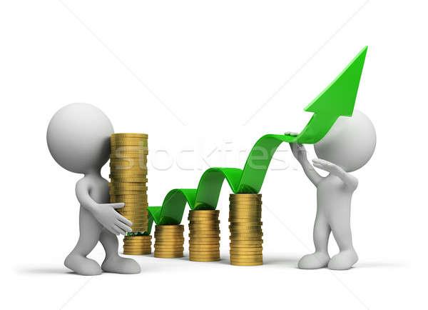 üzlet növekedés csapat üzletemberek 3D kép Stock fotó © AlexMas