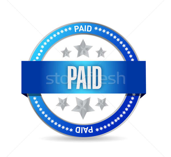 paid seal stamp illustration design Stock photo © alexmillos