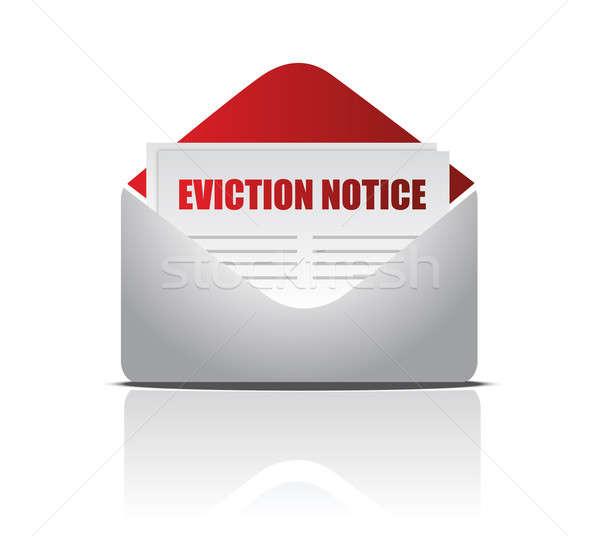 Eviction notice letter illustration design over white Stock photo © alexmillos
