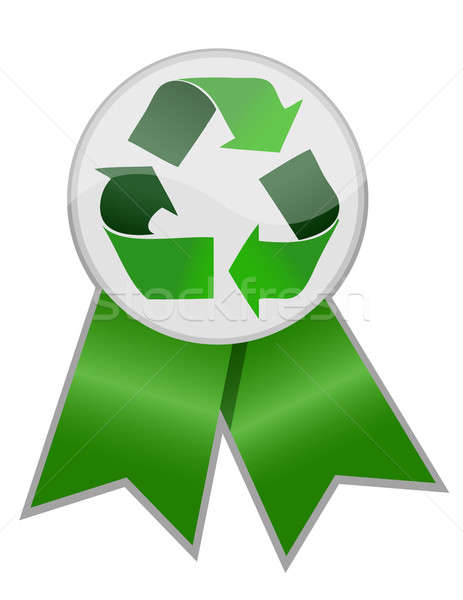 Recycle Ribbon, Protect the World from pollution Stock photo © alexmillos