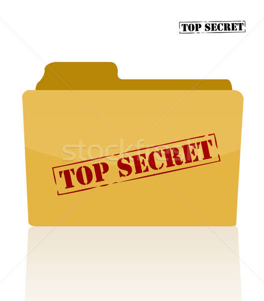 Stock photo: Secret document folder with top secret printed on face.