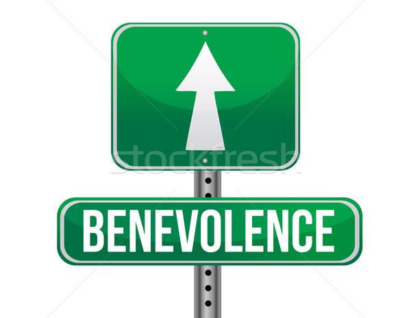 benevolence road sign illustration design over a white backgroun Stock photo © alexmillos
