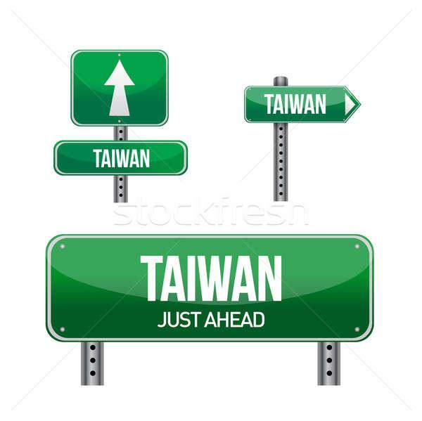 Tayvan imzalamak örnek dizayn beyaz Stok fotoğraf © alexmillos