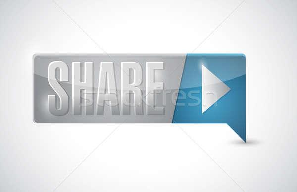 Foto stock: Botón · ilustración · diseno · blanco · éxito · apoyo