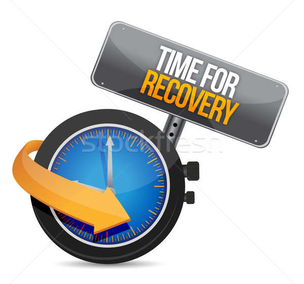 time for recovery concept illustration design over white Stock photo © alexmillos