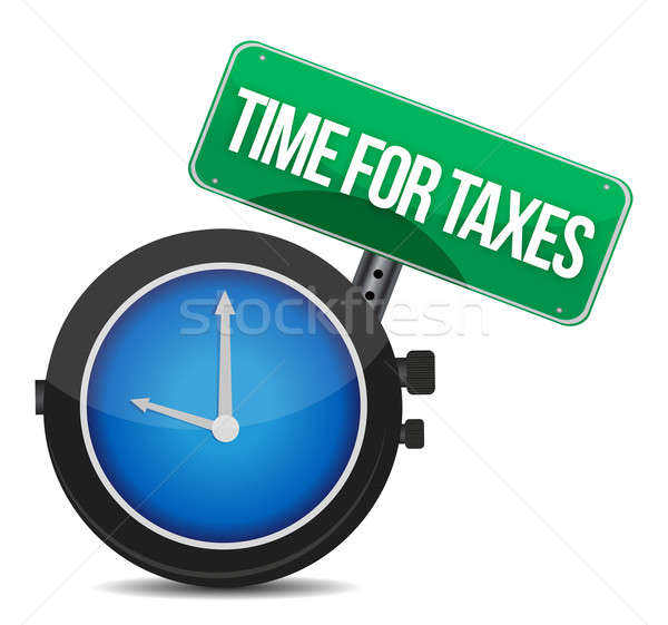 time for taxes illustration design over white Stock photo © alexmillos