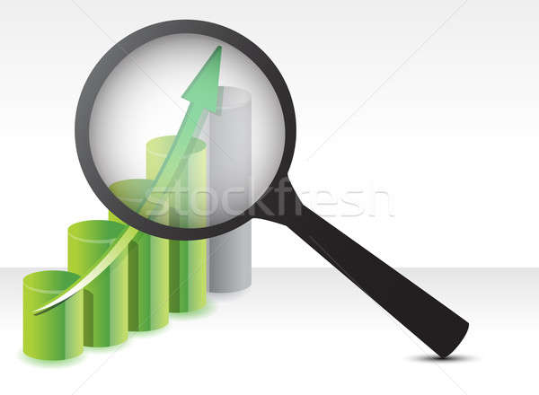business results under review concept illustration design Stock photo © alexmillos