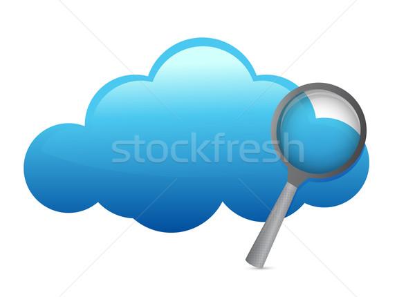 Chmura ilustracja projektu biały niebo Zdjęcia stock © alexmillos