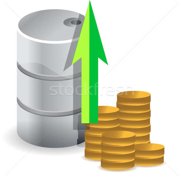 oil prices increasing illustration design concept over white Stock photo © alexmillos